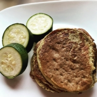 """Adding vegetables to every meal is a good goal😎 Breakfast is sometimes a challenge. These pancakes aren't fluffy, but taste good! Add organic stevia if you want more sweetness. . . . Oatmeal-zucchini pancakes:  2 c oatmeal 2 scoops collagen protein @vitalproteins  1.5-2 cups almond milk 1 small zucchini or 1/2 of a large (or 1 c spinach. Add applesauce) 1 small banana 1 tbsp gf baking powder 1 tbsp cinnamon 1 tsp vanilla extract/1 scoop vanilla protein powder 1/4 tsp(or a little less) of sea salt(pink:) **add last, don't over blend! 2 eggs or 2 flaxseed """"eggs""""  Blend all in a powerful blender (I use the Vitamix), but don't over blend or they will be tough.  Coconut oil for the skillet! Makes a 10-12 stack depending on pancake sizes. Enjoy!"""