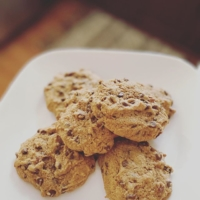 """What if there was no punishment or shame for eating cookies or (your favorite """"bad"""" food)_______?? Wait. What if there are No bad foods? . . My nutrition coaching program helps guide you into that freedom. Choosing foods that are nourishing...& sometimes the opposite. . . Living in freedom from your food choices is possible. HEALTHY is different for everyone, but I KNOW that it is not restricting. Learn to love your body, fuel it, & enjoy life again💪🖤💥 . . The http://www.grainmillwagon.com/spelt-chocolate-chip-cookies/ ; I used kerrygold unsalted butter, organic dark brown sugar (still sugar!), & enjoy life mini chocolate chips."""